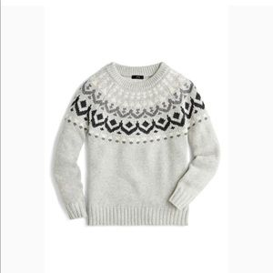 J. Crew  | Fair Isle Sweater Gray Size S #k4650